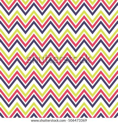 Fashionable Chevron Pattern Background Stock Vector 506473369