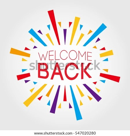 Welcome Back Poster Banner Greeting Template Stock Vector (2018 - welcome back template