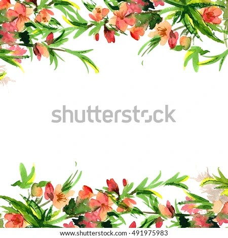 Peony Love Quote Wallpaper Watercolor Flower Border Stock Images Royalty Free Images