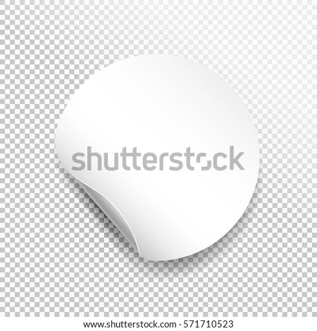 Round Paper Sticker Template Bent Edge Stock Vector HD (Royalty Free - free sticker template