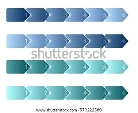 Simple Blank Timeline Infographic Templates 6 Stock Vector HD - blank timeline