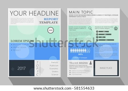 Brochure Template Design Annual Report Layout Stock Vector 581554633 - annual report template design