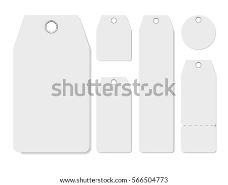 Blank Labels Template Price Tags Set Stock Photo (Photo, Vector - blank label template