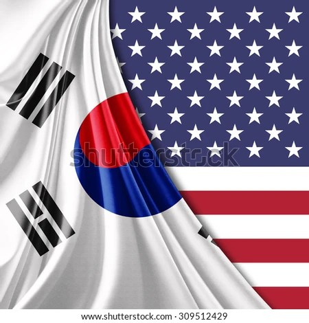 South Korea Flag Silk America Flag Stock Illustration 309512429 - America Flag Background