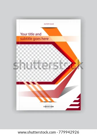 Cover Design Booklet Template Book Magazine Stock Photo (Photo - booklet template