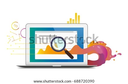 Flat Vector Business Analysis Report Themed Stock Vector 688720390