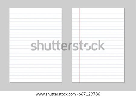 Set Vector Sheets Lined Paper Border Stock Vector 667129786 - lined border paper