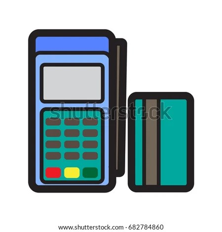 Simple Card Terminal Credit Card Icon Stock Vector 682784860 - simple credit card calculator
