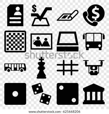 Square Icons Set Set 16 Square Stock Vector 625668206 - Shutterstock