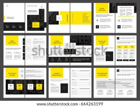 Design Proposal Vector Template Brochures Flyers Stock Vector - design proposal
