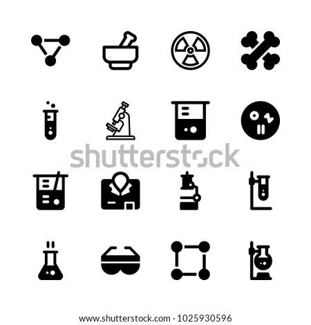 Icons Chemistry Vector Molecule Safety Glasses Stock Vector - chemistry safety