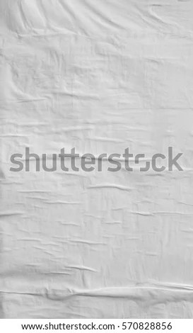 Blank Poster Texture Crumpled Paper Stock Photo (Edit Now) 570828856