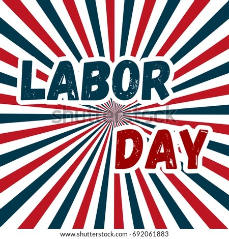 Labor Day Poster Banner Happy Labor Stock Vector 692061883