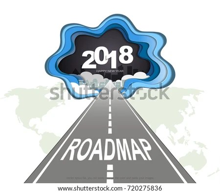 Roadmap Timeline Infographic Presentation Project Ambitions Stock