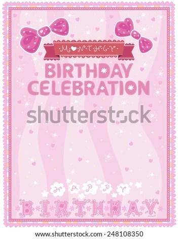 Celebration Letter Birthdays Office Staff Stock Vector (2018 - celebration letter