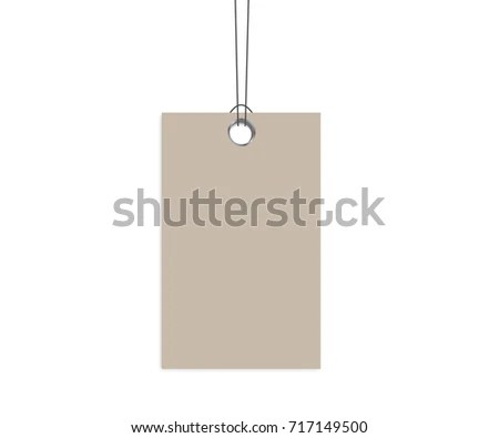 Blank Dangling Paper Label Cloth Tag Stock Photo (Photo, Vector - blank label template