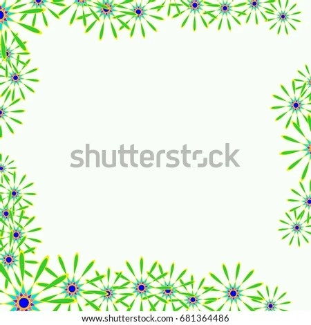 Holiday Frame Template Writing Abstract Flowers Stock Vector HD