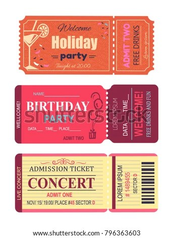 Welcome Holiday Party Cocktail Lemon Slice Stock Vector (2018 - concert ticket birthday invitations