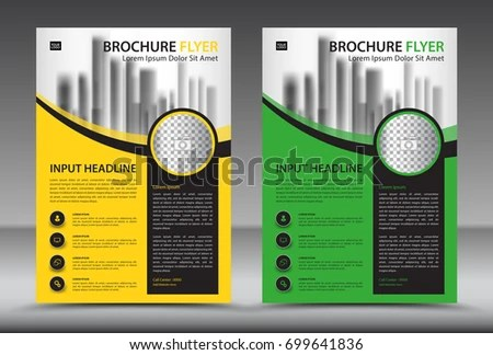 Business Brochure Flyer Template Layout Annual Stock Vector