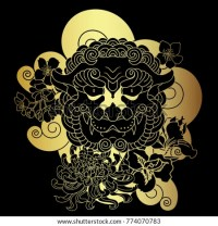 Japanese Tattoo Wallpapergold Lion Tiger