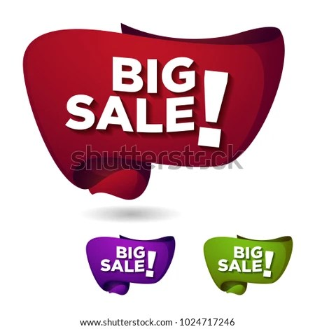 Sale Ribbon Banner Template Design Stock Vector 1024717246