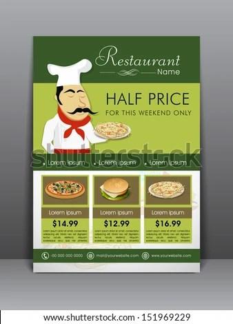 Food Menu Flyer Template Banner Design Stock Vector 151969229