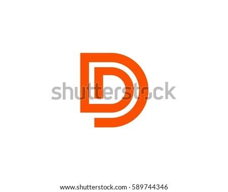 Letter D Logo Design Abstract Logo Stock Vector 589744346 - Shutterstock