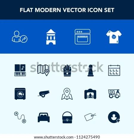 Modern Simple Vector Icon Set Schedule Stock Vector 1124275490 - housework schedule