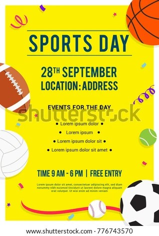 sports day poster template - Yelomdigitalsite