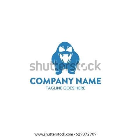 Monster Creature Logo Template Stock Photo (Photo, Vector