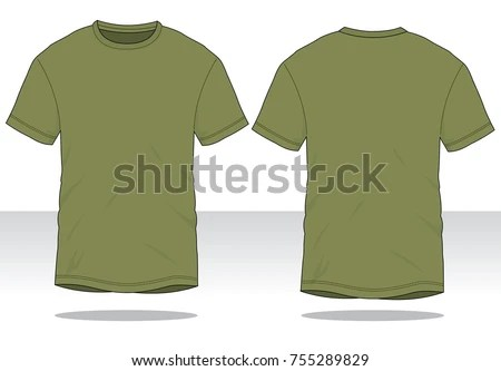 Olive Green T Shirt Template Stock Vector (2018) 755289829 - t shirt template