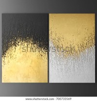 3d Wall Art Paintings Gold Leaf Stock Illustration ...