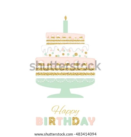 Birthday Cake Card Template Samplescsat - birthday cake card template