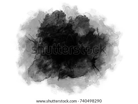 Abstract Black Watercolor Background Black Watercolor Stock