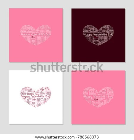Valentines Day Love Background Greeting Card Stock Vector 788568373 - valentines card templates word