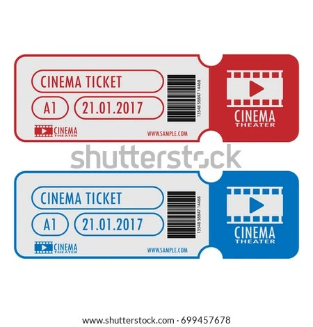 Cinema Movie Ticket Template Simple Design Stock Vector 699457678 - movie theater ticket template