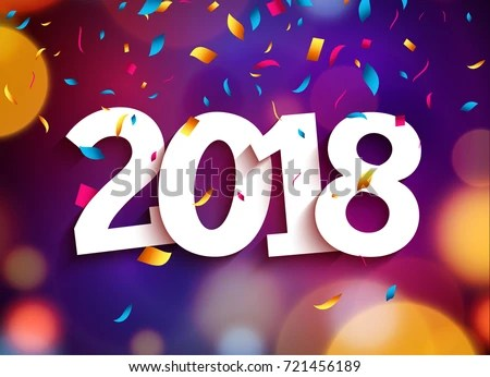 Happy New Year 2018 Background Decoration Stock Vector 721456189