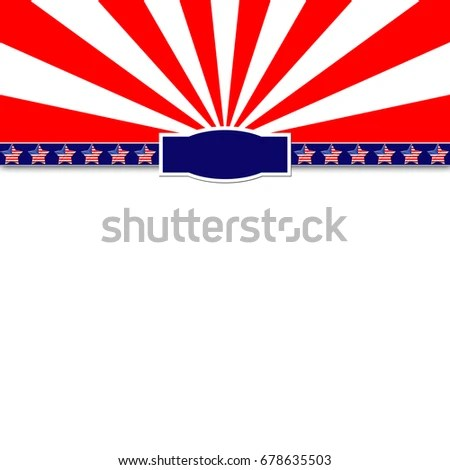 Template Usable Labor Day 4th July Stock Illustration 678635503 - 4th of july template