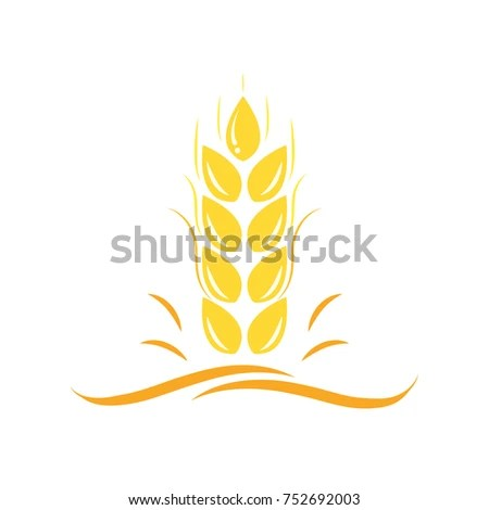 Agriculture Wheat Vector Logo Template Icon Stock Vector 752692003 - wheat template