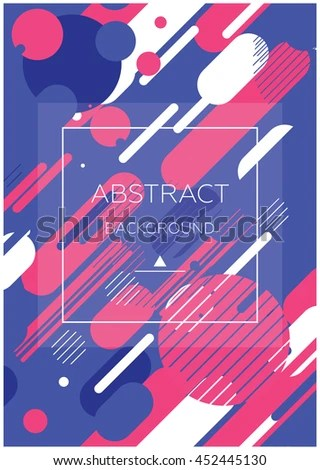 Simple Universal Geometric Design Parallel Lines Stock Vector - poster on line