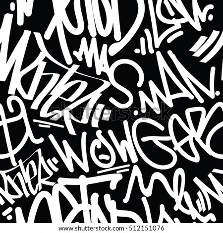 T Alphabet Wallpaper Hd Vector Tags Seamless Pattern Fashion Graffiti Stock Vector