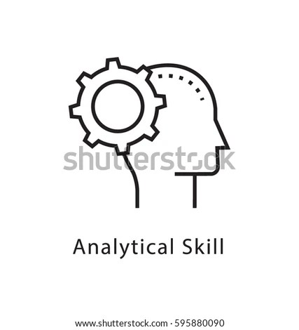 Analytical Skills Vector Line Icon Stock Vector 595880090 - Shutterstock