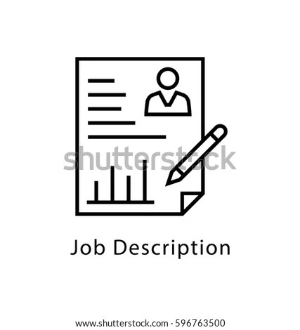 Job Description Vector Line Icon Stock Photo (Photo, Vector - Stock Job Description