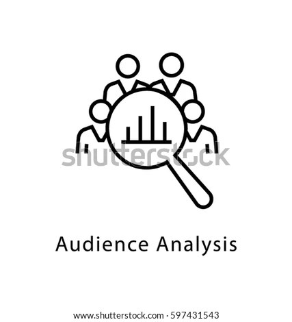 Audience Analysis Vector Line Icon Stock Vector (2018) 597431543