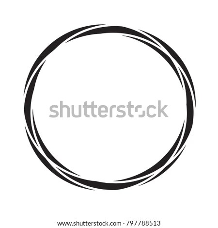 Black Circle Template Vector Stock Photo (Photo, Vector - circle template