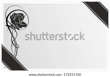 Template Condolences Rose Black Ribbon Stock Illustration 172921760 - condolence template