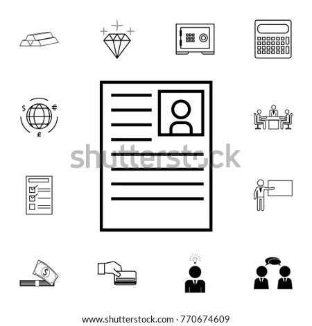 Curriculum Vitae Icon Set Business Element Stock Vector (Royalty