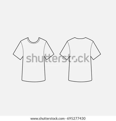 Blank Tshirt Template Vector Imagem Vetorial De Banco 393989734 - t shirt template