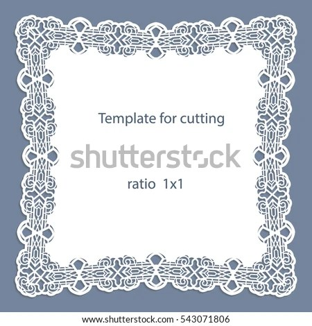 Greeting Card Openwork Border Paper Doily Stock Photo (Photo, Vector