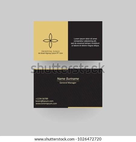 Hospital Business Card Medical Business Card Stock Vector 1026472720 - medical business card templates